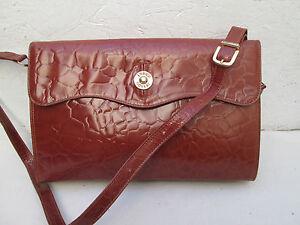 Cuir Coveri Tbeg À A4 Bandoulière Verni Main Bag Enrico Sac Vintage gCaPwF