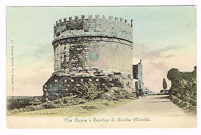 Vintage Postcard Italy 1900 ROMA ROME VIA APPIA SEPOLCRO ...