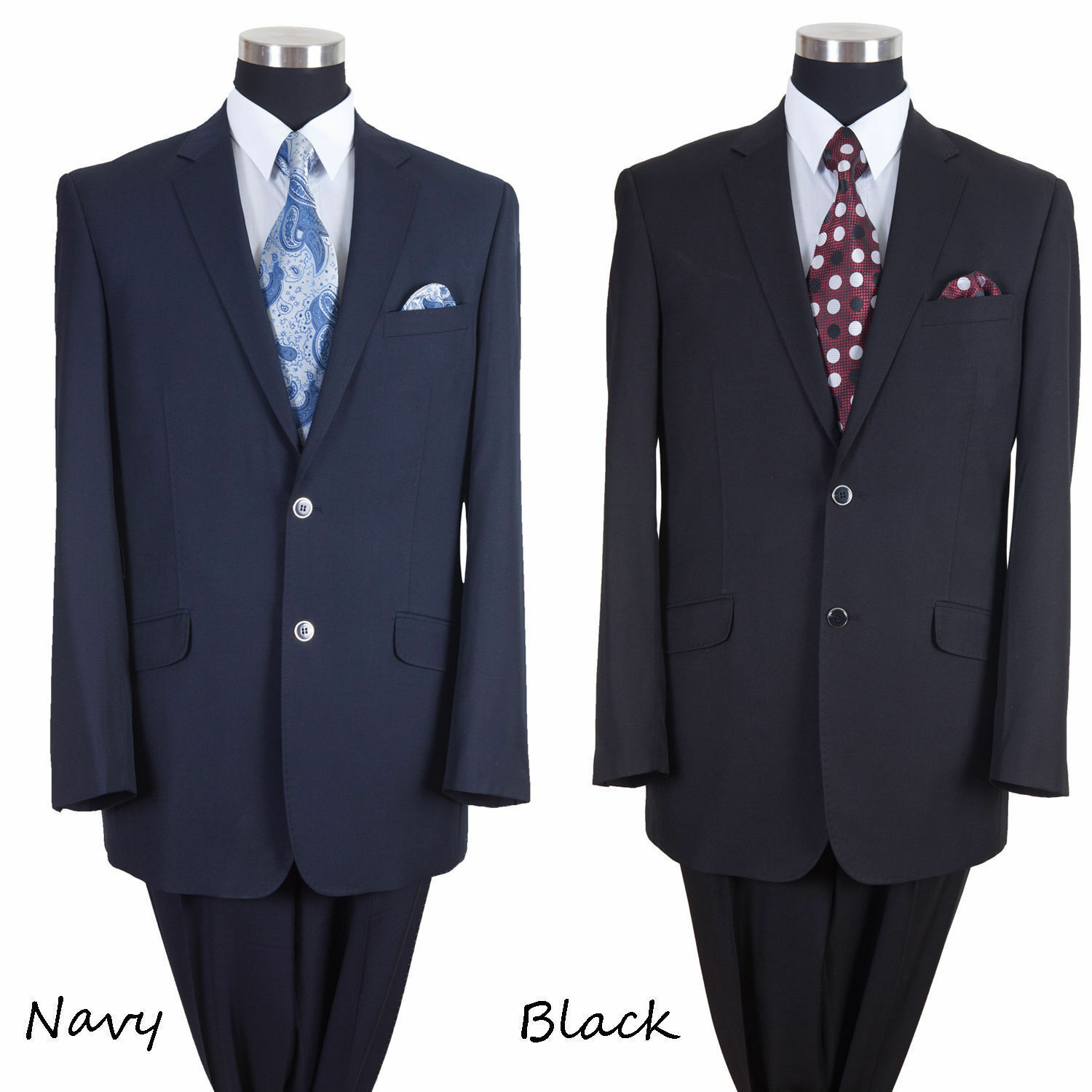 New Luxurious Wool Feel Suit 2 button Blazer w Pants Stitched lapel Milano 57026