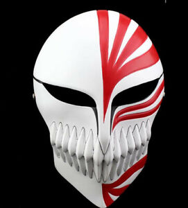 Anime Bleach Ichigo Kurosaki Cosplay Full Hollow Halloween Mask With Box Ebay