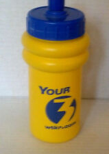 YOUR 3 WTKR.COM  YELLOW BLUE WATER BEVERAGE BOTTLE 7 INCH