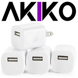 AKIKO-4PC-Universal-AC-DC-Power-Adapter-1-Port-USB-Home-Wall-Charger-Grip-5V
