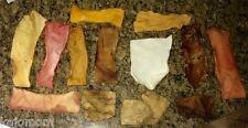 48 Pack Rawhide MULTI FLAVOR CHIPS Dog Chews Bulk Natural Bully Beef Peanut