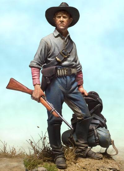Andrea Miniatures US Cavalry Trooper 1876 Indian Wars 54mm Unpainted kit