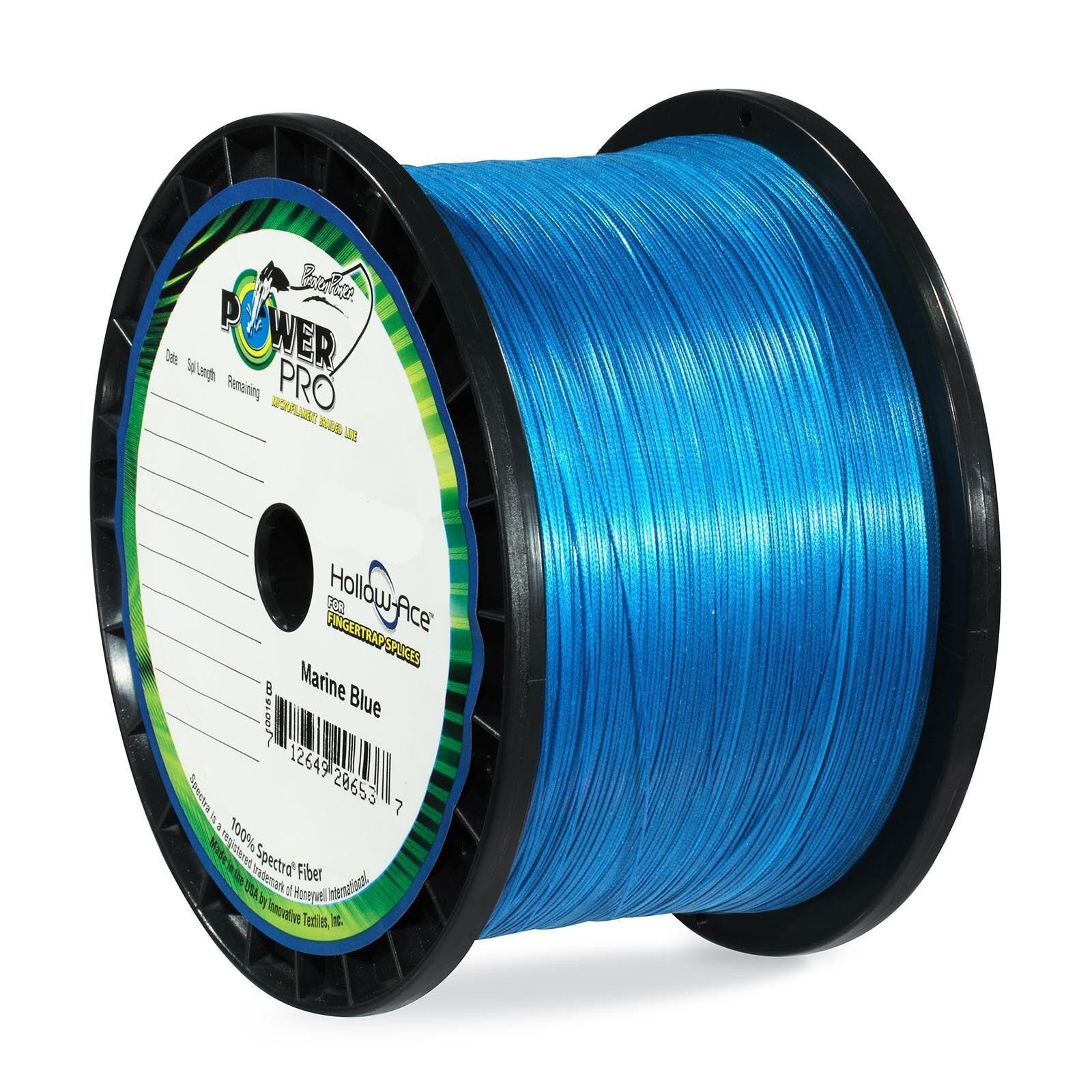 PowerPro Hollow Ace Braided Line 40lb 500yd Spool bluee