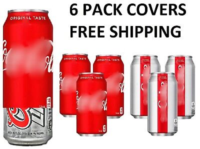 """7 HIDE A CAN BEER /""""COVER/"""" PACK COVERS SODA CAMO BEER WRAP SLEEVES"""