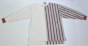 Vintage-Men-039-s-IZOD-White-Red-Blue-Polo-Cotton-Shirt-Long-Sleeve-Size-Large-L