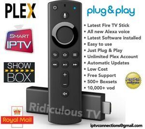 Details about Alexa Amazon Fire TV Stick - Unlimited PLEX, Movies, Cartoon,  Boxsets