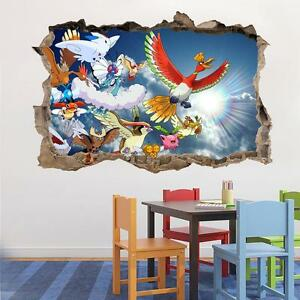 Pokemon Wall Decor sky pokemon smashed wall decal removable graphic wall sticker