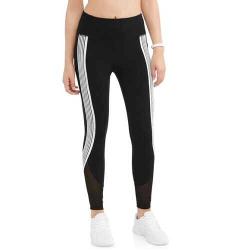 20 NWT AVIA Black Soot Arctic White Active Performance Crop Legging Size XXL