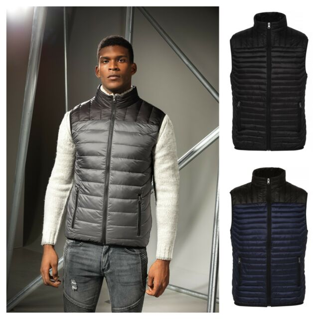 NEW Mens Brave Soul Padded Bodywarmer Hooded Quilted Gilet Puffa Jacket Waistcoa