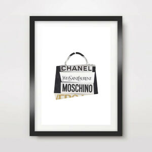 Luxury Brand Name Collage Fashion Art Print Poster Designer Style Artwork Design Ebay