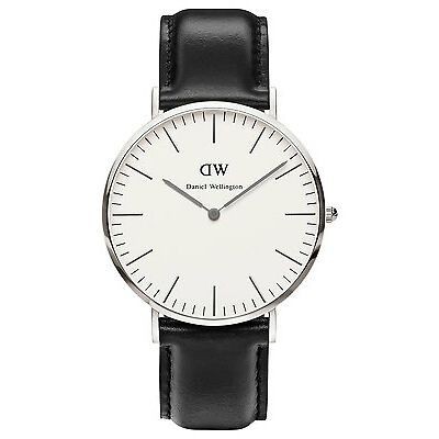NEW Daniel Wellington Classic Sheffield 40mm Silver Watch