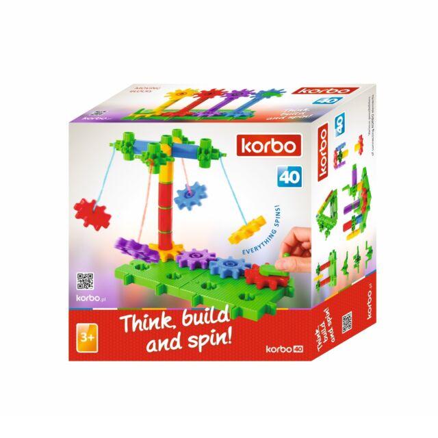 Korbo 40 Twist - kreatives Zahnradspiel - 40 Bauteile
