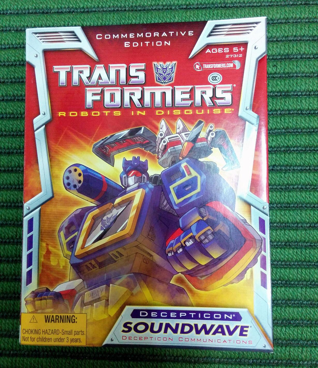 Transformers commemorative edition soundwave new