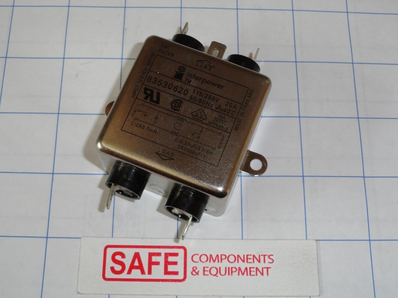 3VQ1 Power Line Filters 3A 1//4 QUIK CONN