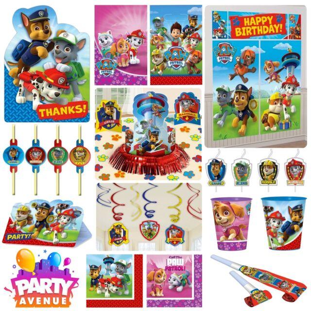 Paw Patrol Fiesta Vajilla Decoración Globos favores