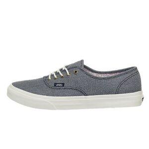 Vans Authentic Slim Suiting Navy Marshmallow Men s Skate Shoes Size ... 8121177502fa7