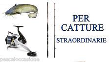 CANNA DA PESCA CAT FISHING ATTREZZATURA KIT GRANDI PREDE SILURO SILURI ESCA CAVA