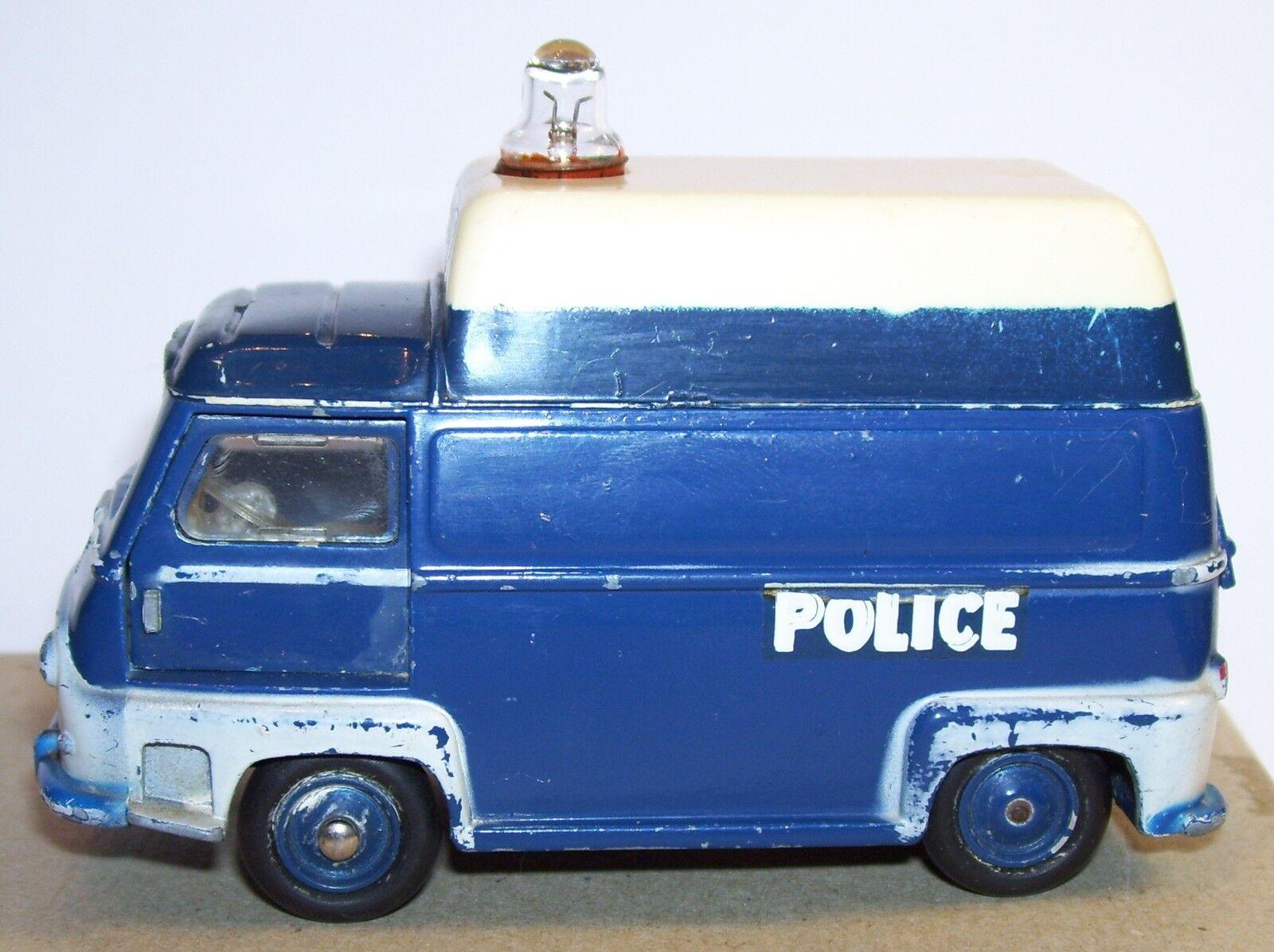 Rare made in france old cij renault runner police van 1962 ref 3.91 1 45