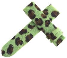 Authentic Womens Van Der Bauwede 20x19mm Green Leopard Pattern Watch Band NEW