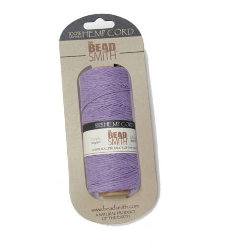 Purple #20 Hemp 1mm Cord for beading jewelry necklace bracelet VBS camp crafts