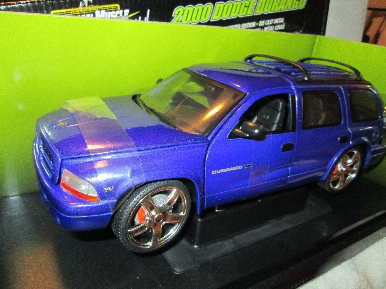 SLAMMED Dodge durango purple 2000 hobby edition 1 of 5000 1/18 american muscle