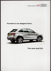 Audi Q3 2011 Uk Market Launch Mailer Leaflet Brochure Ebay