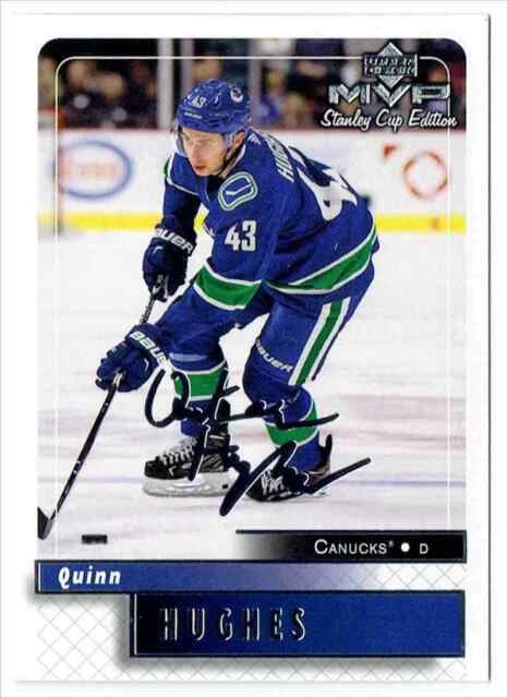 2019-20 MVP STANLEY CUP EDITION QUINN HUGHES ROOKIE VANCOUVER CANUCKS #97