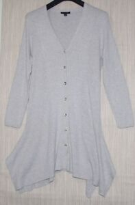 cardigan clair rayonne taille gris coton femme Halston pull long H By XwIq8va