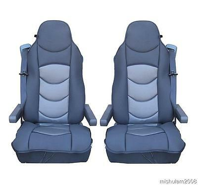 Sitzauflage LKW-Sitz Sitzbezug Bezug Sitzschoner Schwarz für MAN TGX TGS TGM TGL