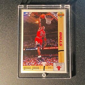 MICHAEL-JORDAN-1991-UPPER-DECK-1-PROMO-SAMPLE-CARD-CHICAGO-BULLS-NBA-MJ