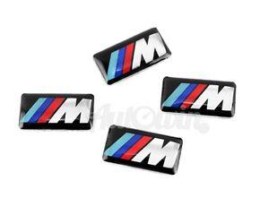 BMW //////M Emblem Set of 4x Small //////M Stick-on Rims Emblem NEW