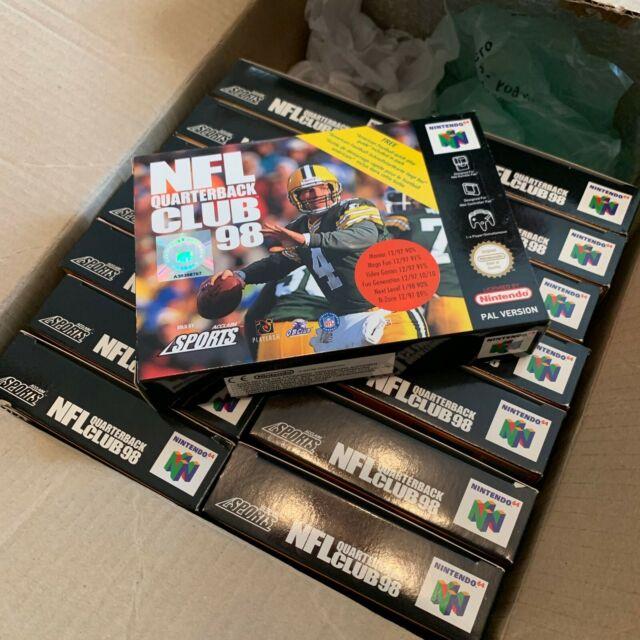 Boîte d'expédition de Nintendo 64 (n64) NFL Quarterback Club 98's. neuf x 15