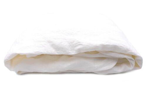 "Serrage draps Off White Soft 90x200+25 cm 100/% LIN /""Stonewashed/"""
