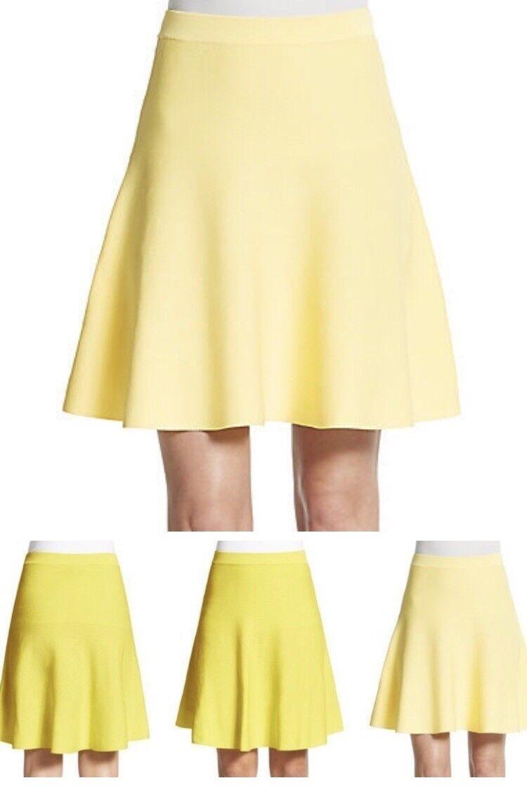 Romeo & Juliet Couture-  Flippy Jersey Skirt - Pastel Yellow- Size  Medium