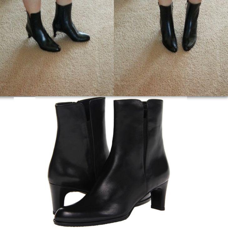 NIB Stuart Weitzman parttime noir calf 5.5 side zip