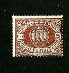 San-Marino-Stamps-24-F-OG-NH-Scarce-Scott-Value-575-00