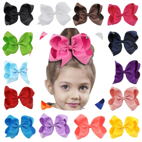 6/'/' Girls Baby Lovely Large Boutique Hair Accessories Hair Bow Alligator HOT NEW