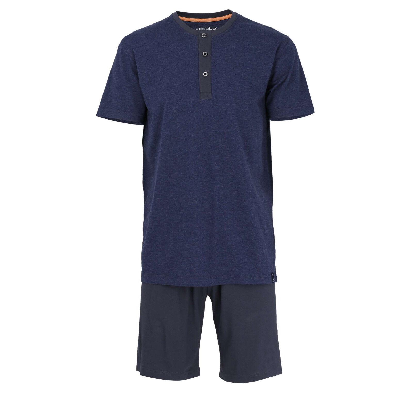 Ceceba Schlafanzug Größe S 48 Jersey-Pyjama blau blau blau Klima aktiv Knopfleiste | Haltbarer Service  23f293