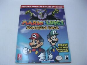Details About Mario And Luigi Superstar Saga Prima S Official Strategy Guide