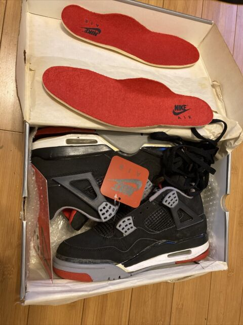 Size 8.5 Jordan 4 Retro Bred 1999 Neverworn Sole Needs To Glued On And Repainted