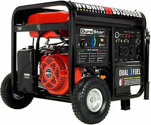 DuroStar DS13000EH 13,000-W Portable Dual Fuel Gas Generator with Electric Start