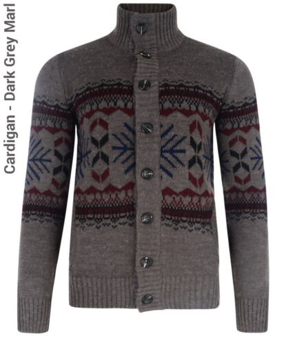 Tokyo Laundry New Men/'s Cardigans Button Front Chunky Style Cable Knit