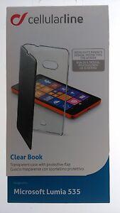 S0315-Cellularline-Clear-Book-Schutzhuelle-fuer-Microsoft-Lumia-535-Handytasche