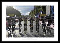 2015 Tour de France Chris Froome Team Sky Paris Cycling Photo Memorabilia (509)