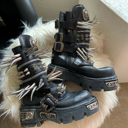 New Rock Spike Boots