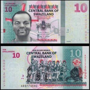 UNC Vision 2022 P-41 Swaziland 10 Emalangeni 2015