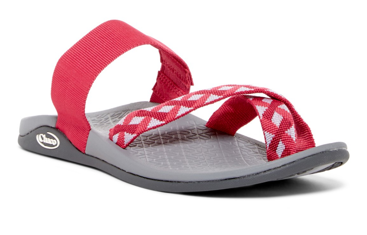 NEW CHACO TETRA CLOUD TOE LOOP SLIDE SANDALS WOMENS 8 BRAID BERRY J106246