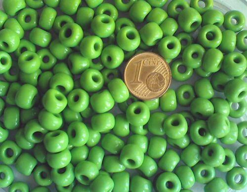 25 perles verre rondes 7 x  5 mm VERT DIY Création Bijoux Loisirs rocaille